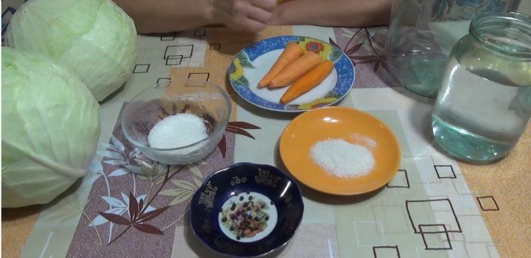 капуста быстрого приготовления рецепт вкусная без уксуса ингридиенты