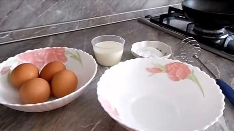 вкусный омлет на сковороде рецепт
