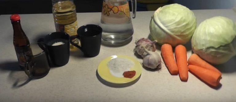 капуста по корейски рецепт быстрого приготовления ингридиеты