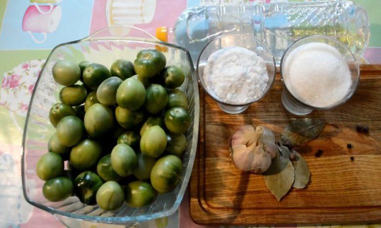 зеленые помидоры с чесноком на зиму рецепты с фото пальчики оближешь