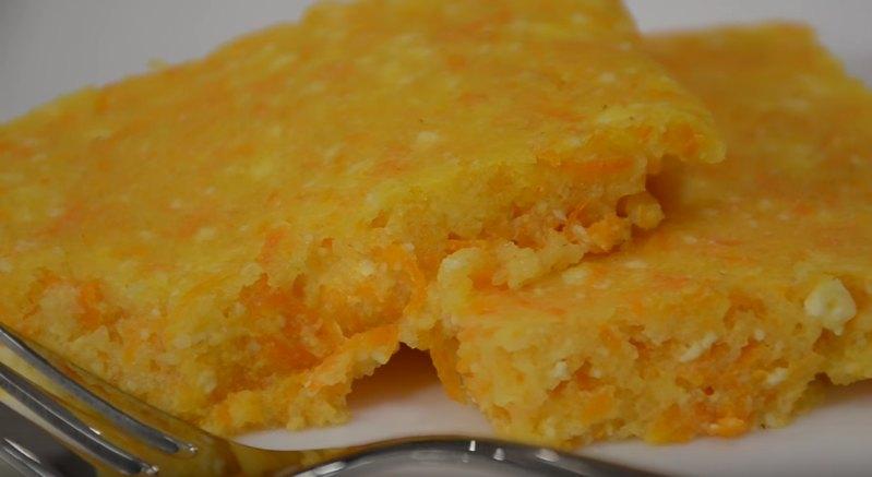 Запеканка творожная с морковью - рецепт в духовке