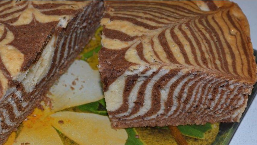 Торт зебра - рецепт с фото пошагово в домашних условиях, на сметане