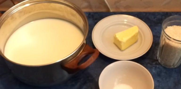 рисовая каша на молоке рецепт с фото пошагово