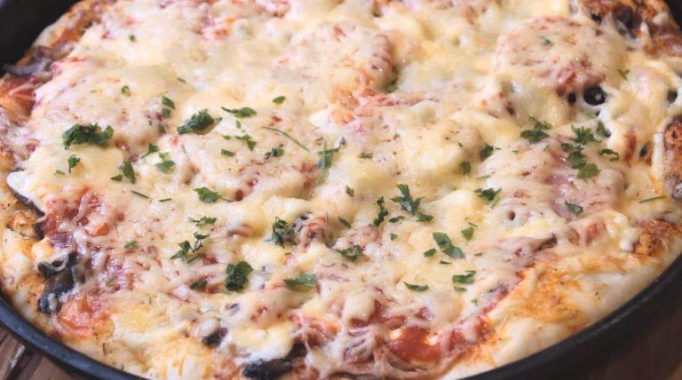 Вкусная пицца, которую можно приготовить дома быстро - рецепт в духовке
