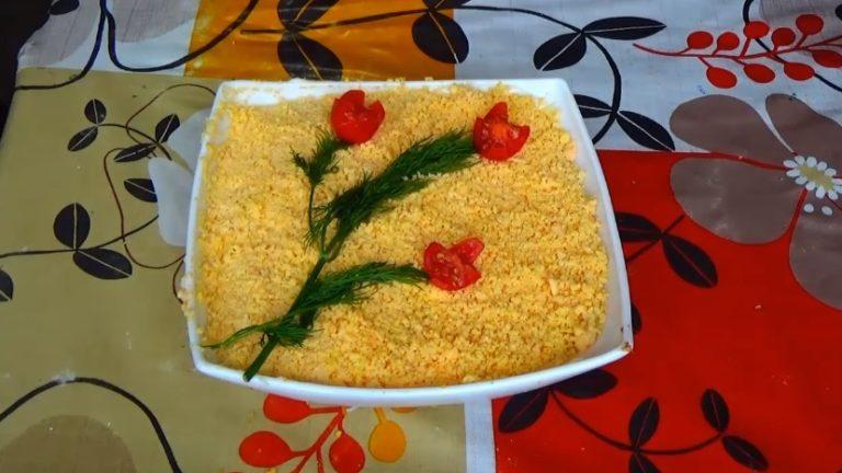 Салат мимоза с горбушей: классический рецепт с фото пошагово