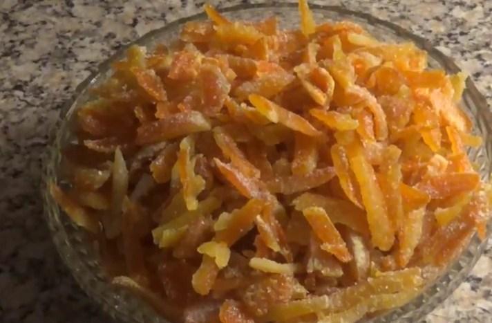 Цукаты из апельсиновых корок: быстрый рецепт