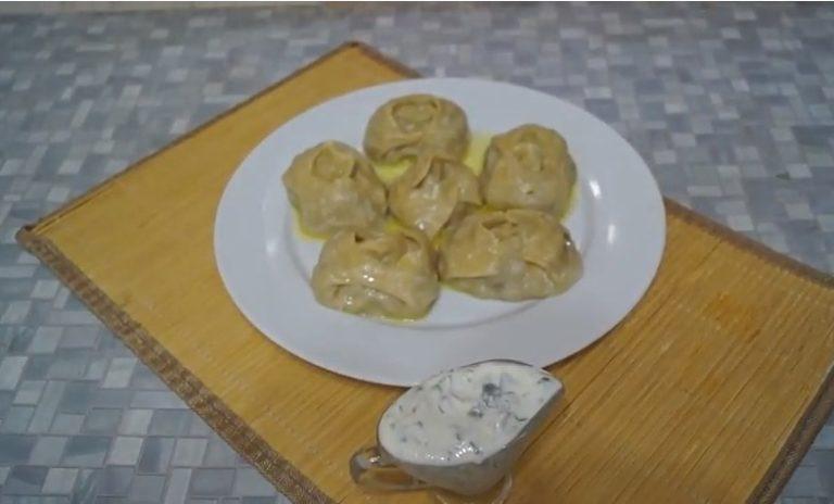 Манты с тыквой по-узбекски - рецепт с фото