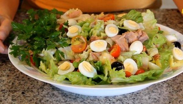 Салат с тунцом - рецепт с фото, очень вкусный