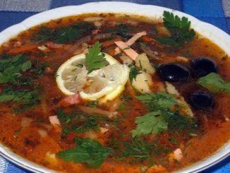 суп солянка мясная рецепт