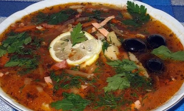 рецепт супа колбасной солянки