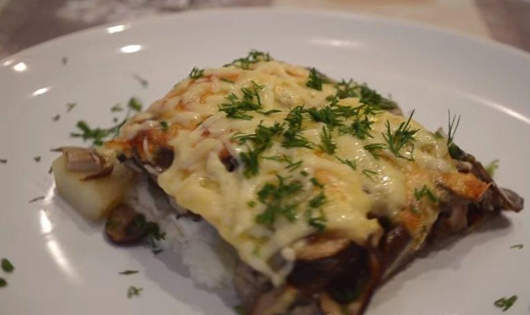 картошка запеченная +в духовке +с сыром грибами