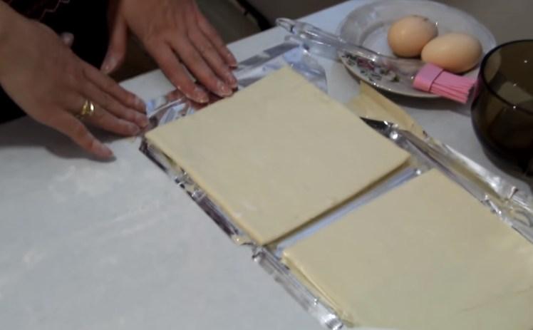 разморажываем слоеное тесто