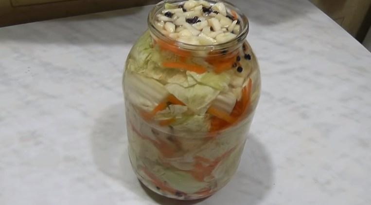 Вкусная капуста маринованная кусками, рецепт быстрого приготовления