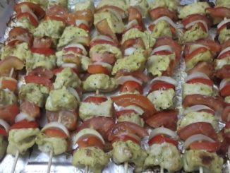 шашлычки из курицы в духовке на шпажках рецепт с фото