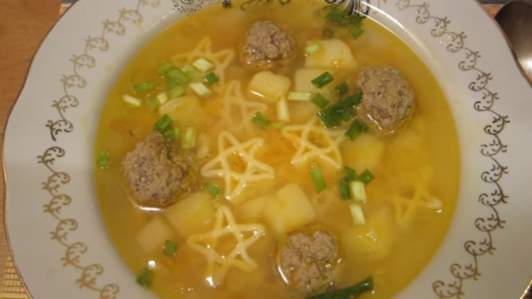 Рецепт супа с фрикадельками из фарша, с пошаговыми фото
