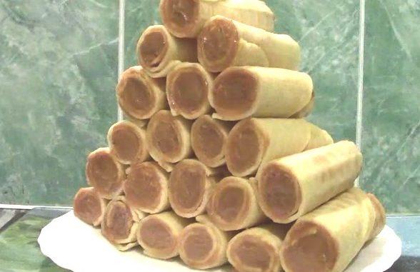 трубочки со сгущенкой рецепт в вафельнице