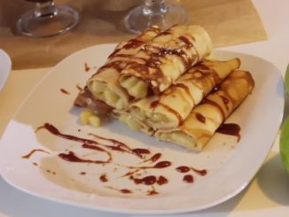 блины с яблоками рецепт с фото пошагово