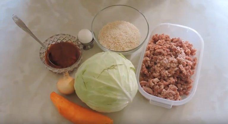 рецепт голубцов пошагово с фото с фаршем