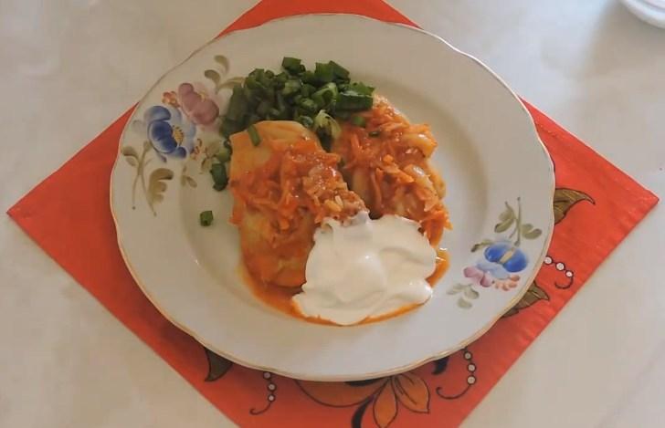 Рецепт голубцов с фаршем и рисом в кастрюле - пошагово с фото