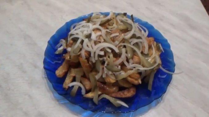 азу из свинины с солеными огурцами рецепт с фото