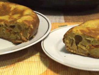 капустный пирог в мультиварке с грибами