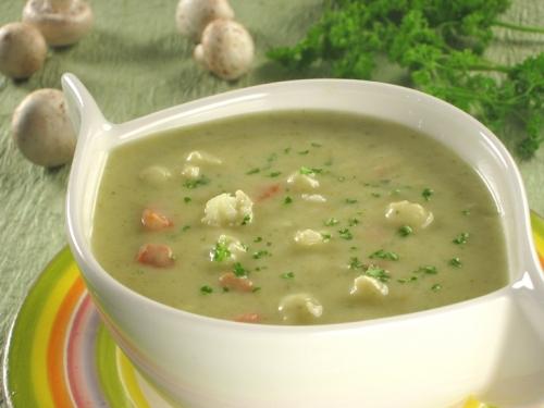 Суп из плавленного сыра с грибами