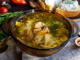 грибной суп из сухих грибов рецепт с фото