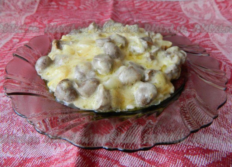Рецепт куриных сердечек на сковороде в сметане