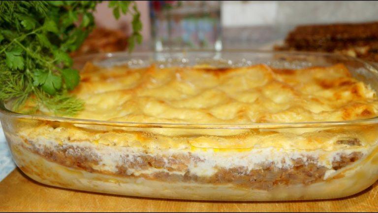 Лазанья мясная пошаговый рецепт с фото