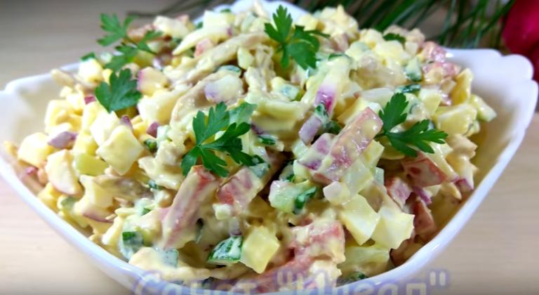 Салат ‹‹Идеал›› с курицей, вкусно и просто, готовим по рецепту