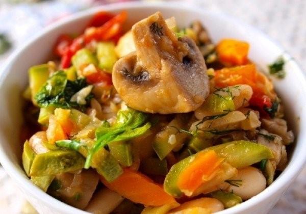 Овощное рагу с грибами – рецепт приготовления с фото