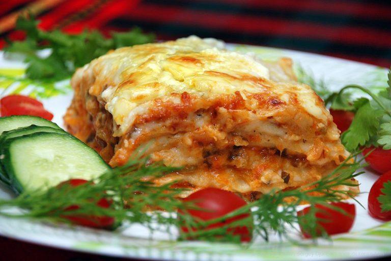 Овощная лазанья - простой и вкусный рецепт