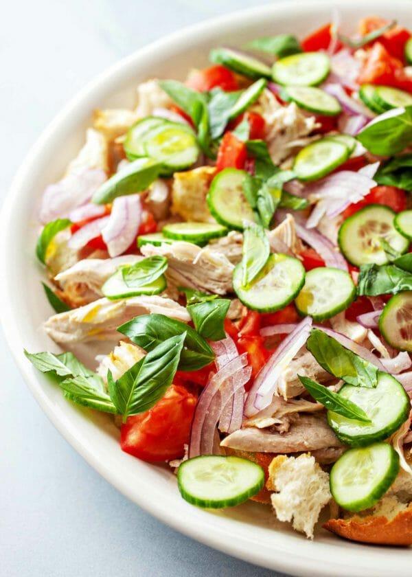 Готовим салат Панцанелла дома – легкий и быстрый рецепт с фото