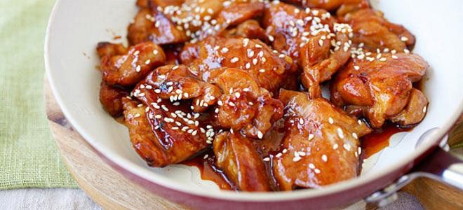 Курица в соусе терияки с овощами – пошаговый рецепт