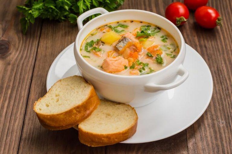 Рецепт супа из семги со сливками