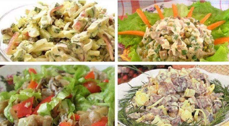 Грибные салаты: рецепты на каждый день и для праздничного стола