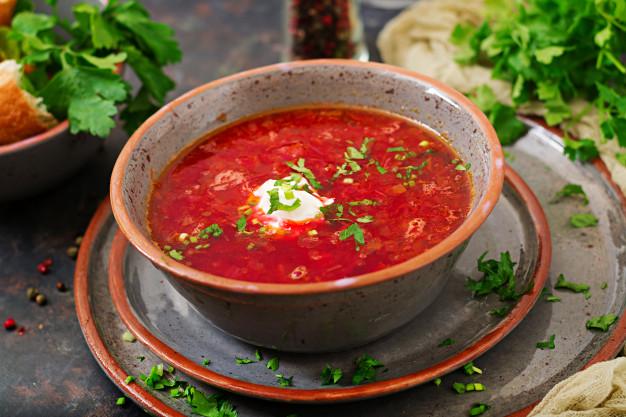 Борщ красный с кулешей – вкуснейший вариант традиционного украинского блюда