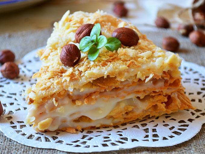 Торт «Ленивый Наполеон». Просто, быстро и очень вкусно!