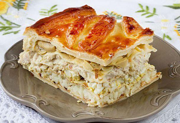 Кулебяка с рисом и грибами – легкий рецепт с пошаговой инструкцией вкусного пирога