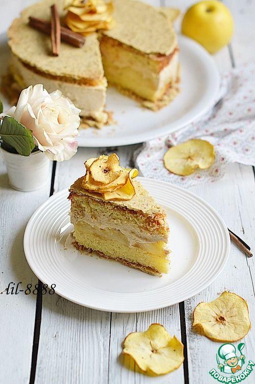 Торт бисквитный с яблочной начинкой – пошаговая инструкция создания супер-торта по-домашнему