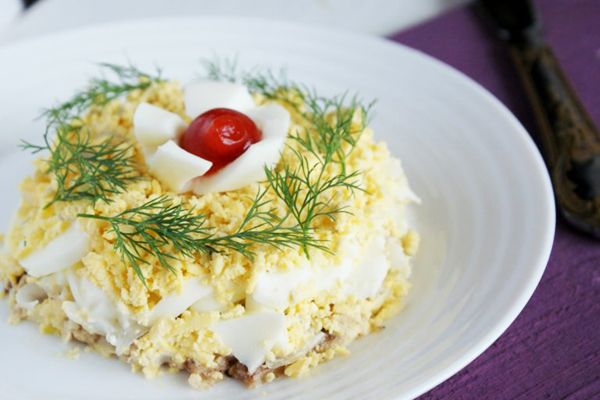 Салат Людмила – мясной салат к праздничному столу. Пошаговый рецепт с фото