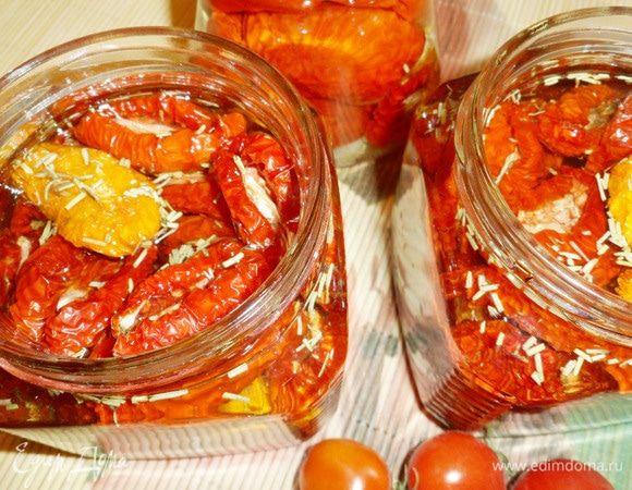 Вяленые помидоры – лучший пошаговый рецепт пикантной закуски с фото