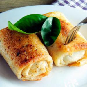 Налистники с твердым сыром – готовим вкусный завтрак вместе по очень легкому и быстрому рецепту с фото