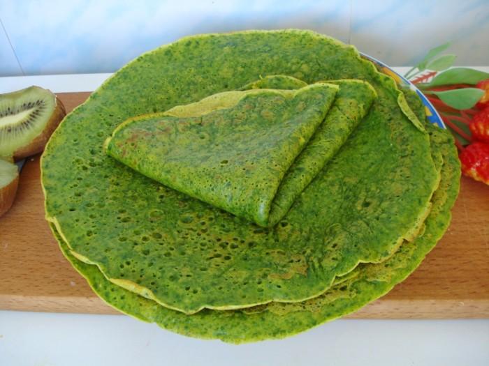 Зеленые полезные блины из шпината – простой пошаговый рецепт с фото
