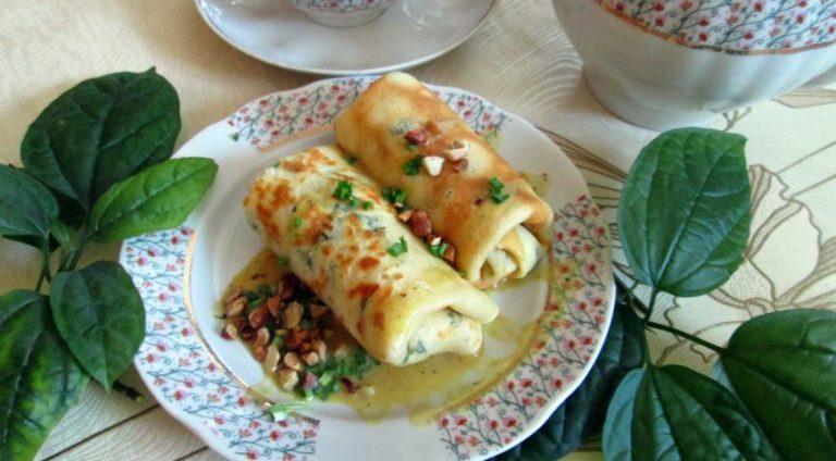 Налистники с яйцами и зеленным луком – отличная закуска на каждый день по простому рецепту с фото
