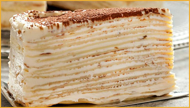 Вкуснейший торт Крепвиль, готовим десерт дома