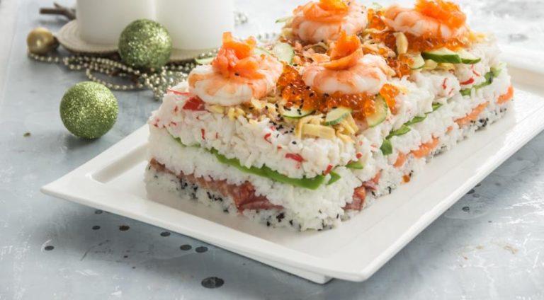 Суши-торт готовим дома на любимой кухне, пошаговый рецепт