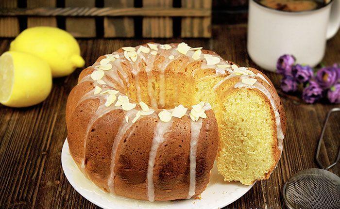 Золотой кекс на желтках с цедрой лимона