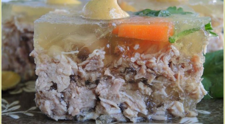 Заливное из индейки – простой рецепт вкусного и красивого блюда для застолья