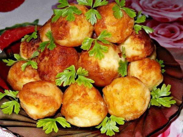 Картофельные шарики с начинкой - пошаговый рецепт с фото на Повар.ру